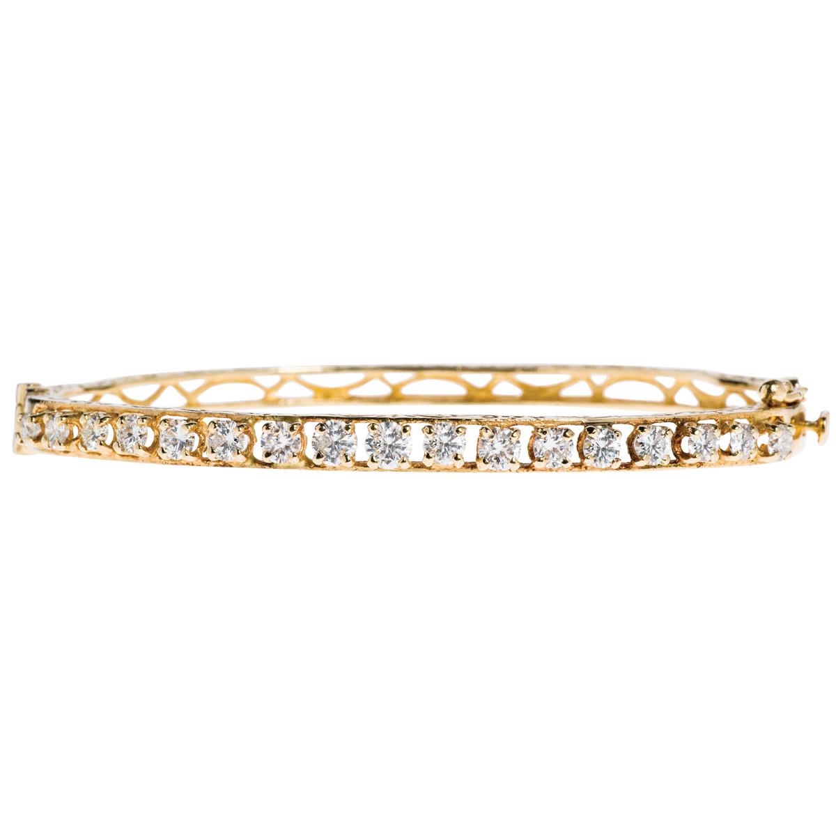 Vintage 2.00 CTW Diamond Bangle