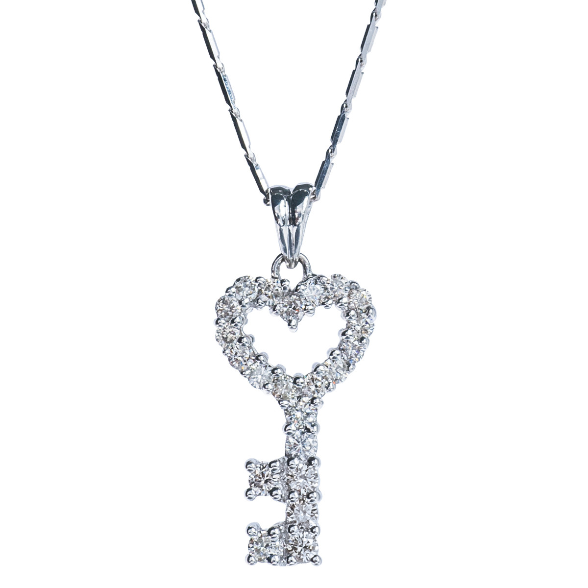 Vintage 0.50 CTW Diamond Heart Pendant