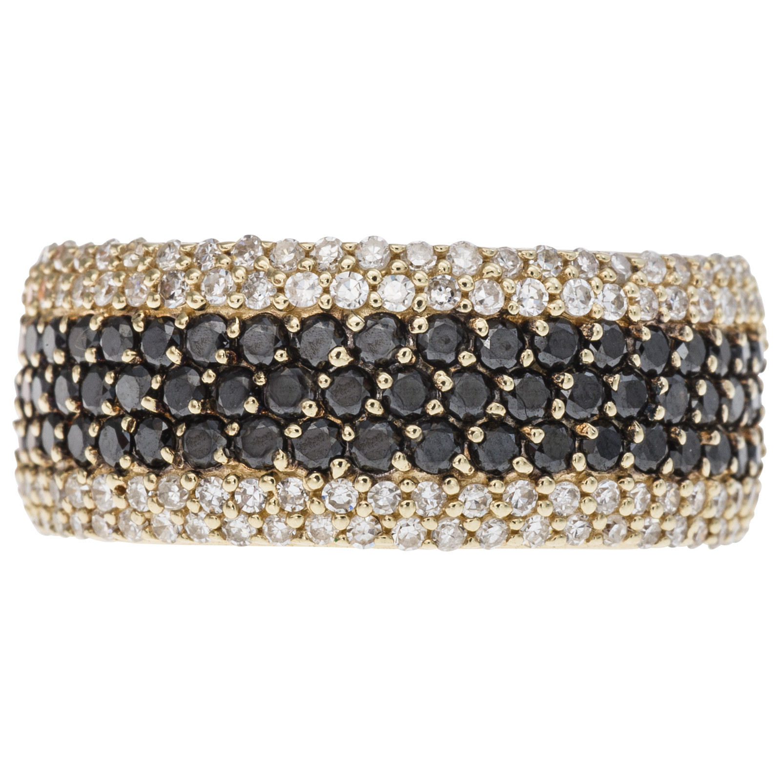 Vintage 1.37 CTW Black & White Diamond Ring