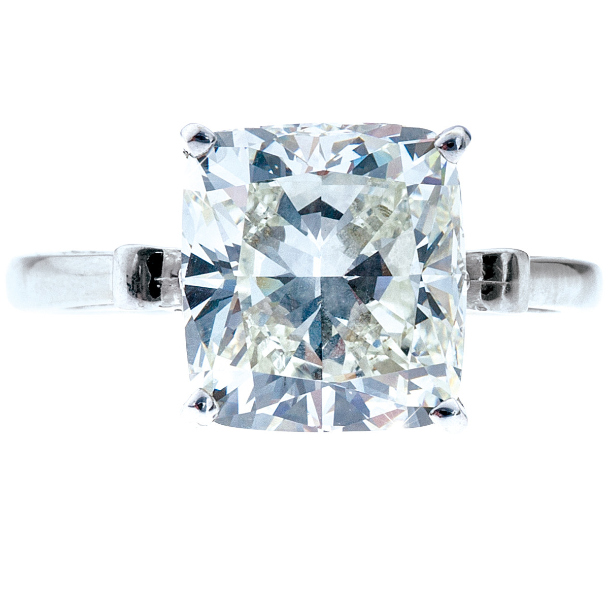 5.01 CT Cushion Cut Diamond Engagement Ring