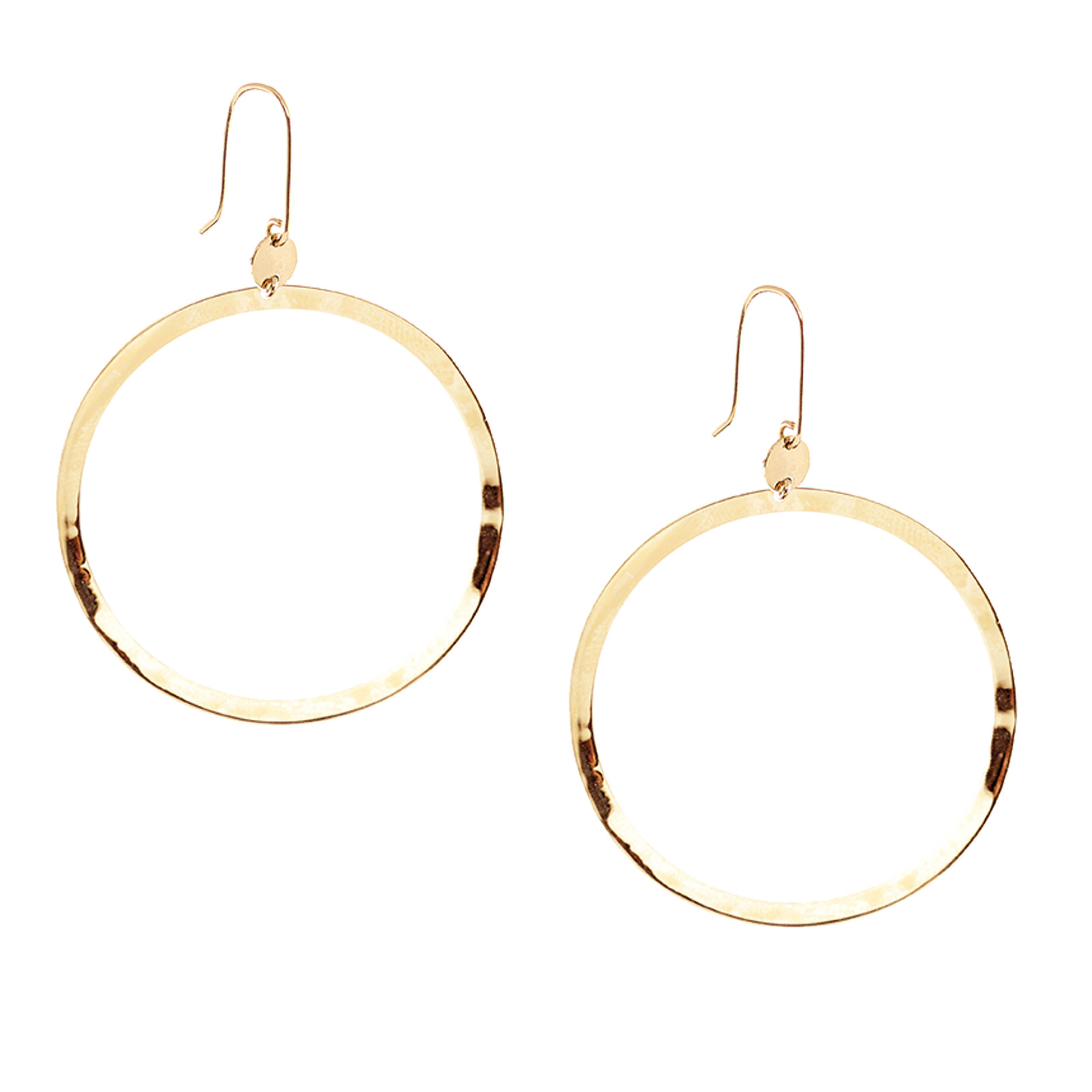 Lana Jewelry Small Wave Hoop Earrings