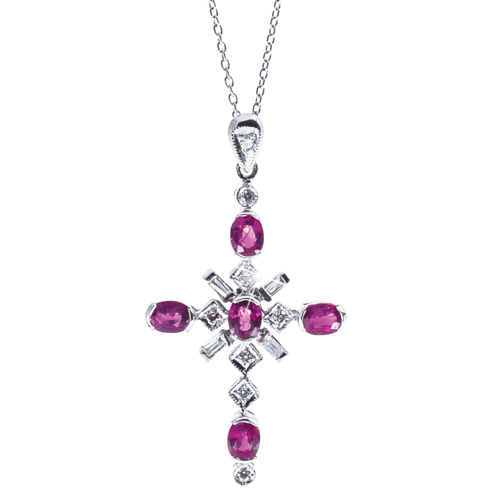 Vintage 1.22 CTW Ruby & Diamond Pendant