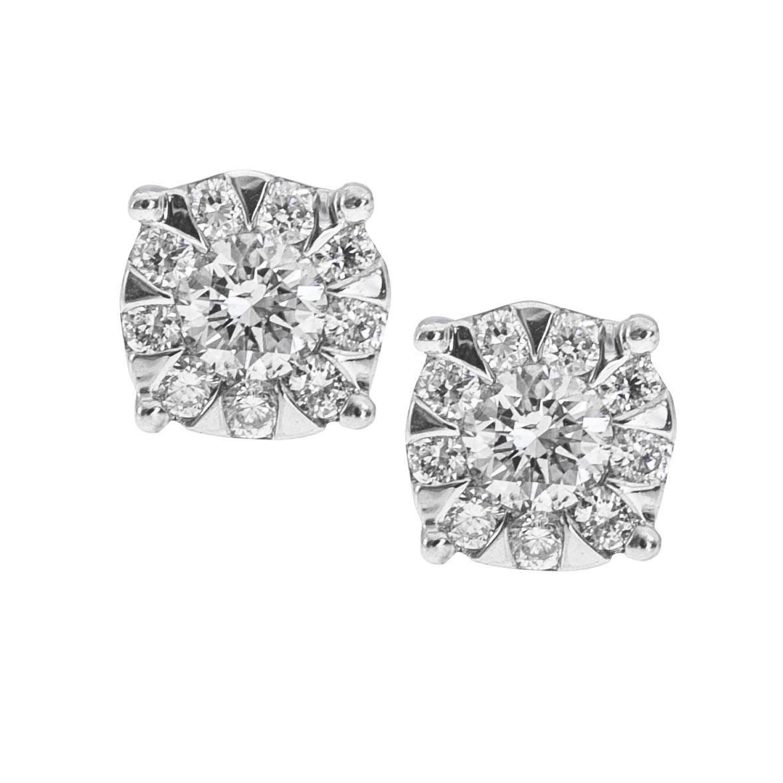 Vintage Mémoire® 0.17 CTW Diamond Bouquets Earrings