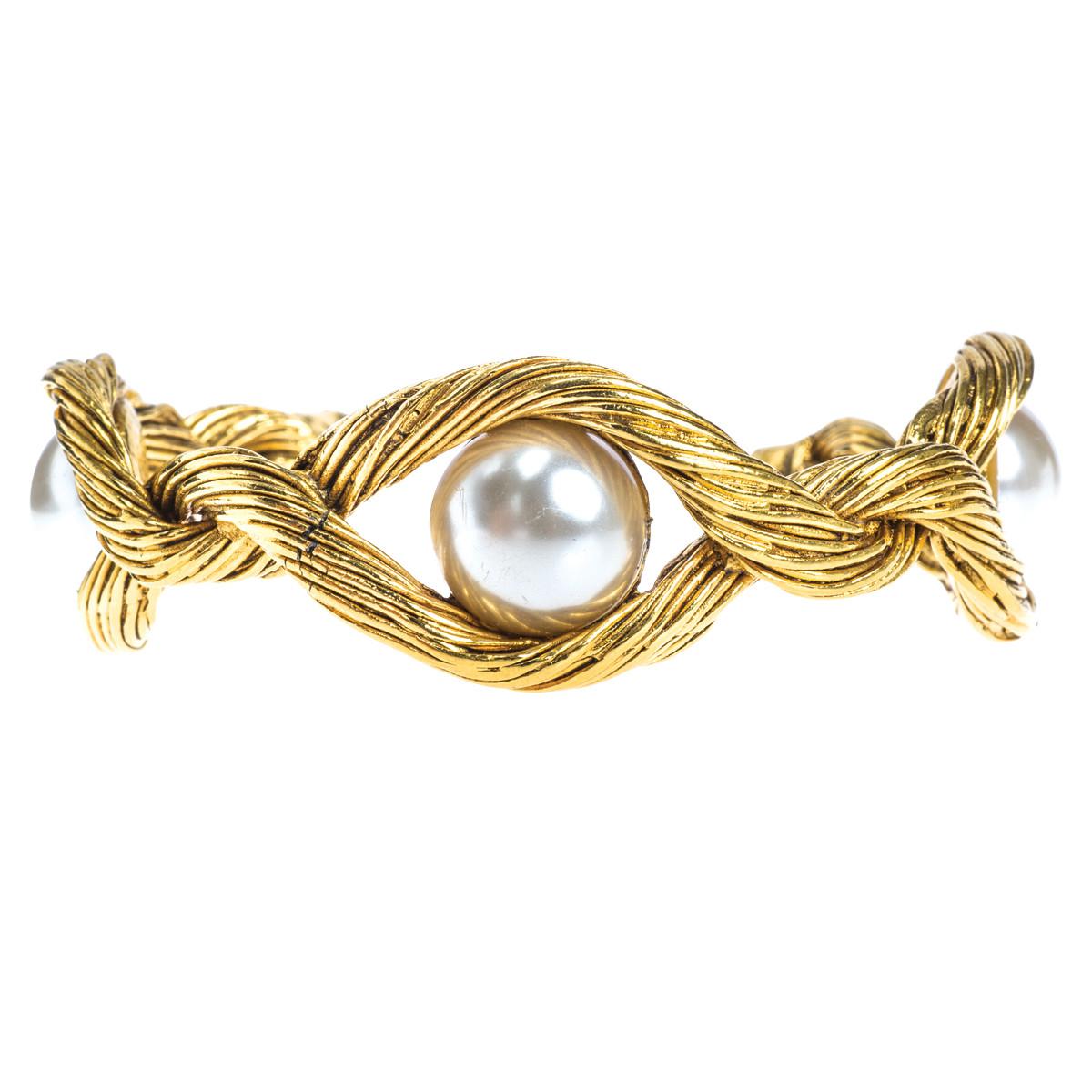 Vintag Chanel Pearl Cuff