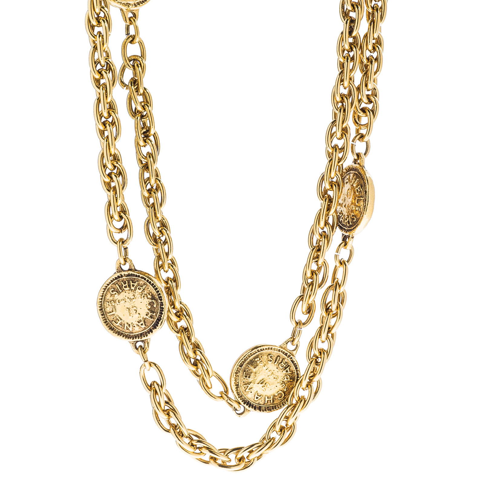 Vintage Chanel Coin Sautoir Necklace