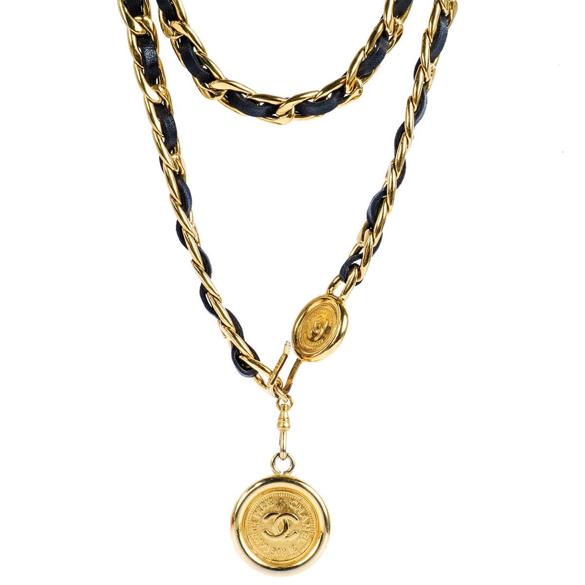 Vintage Chanel Leather Chain