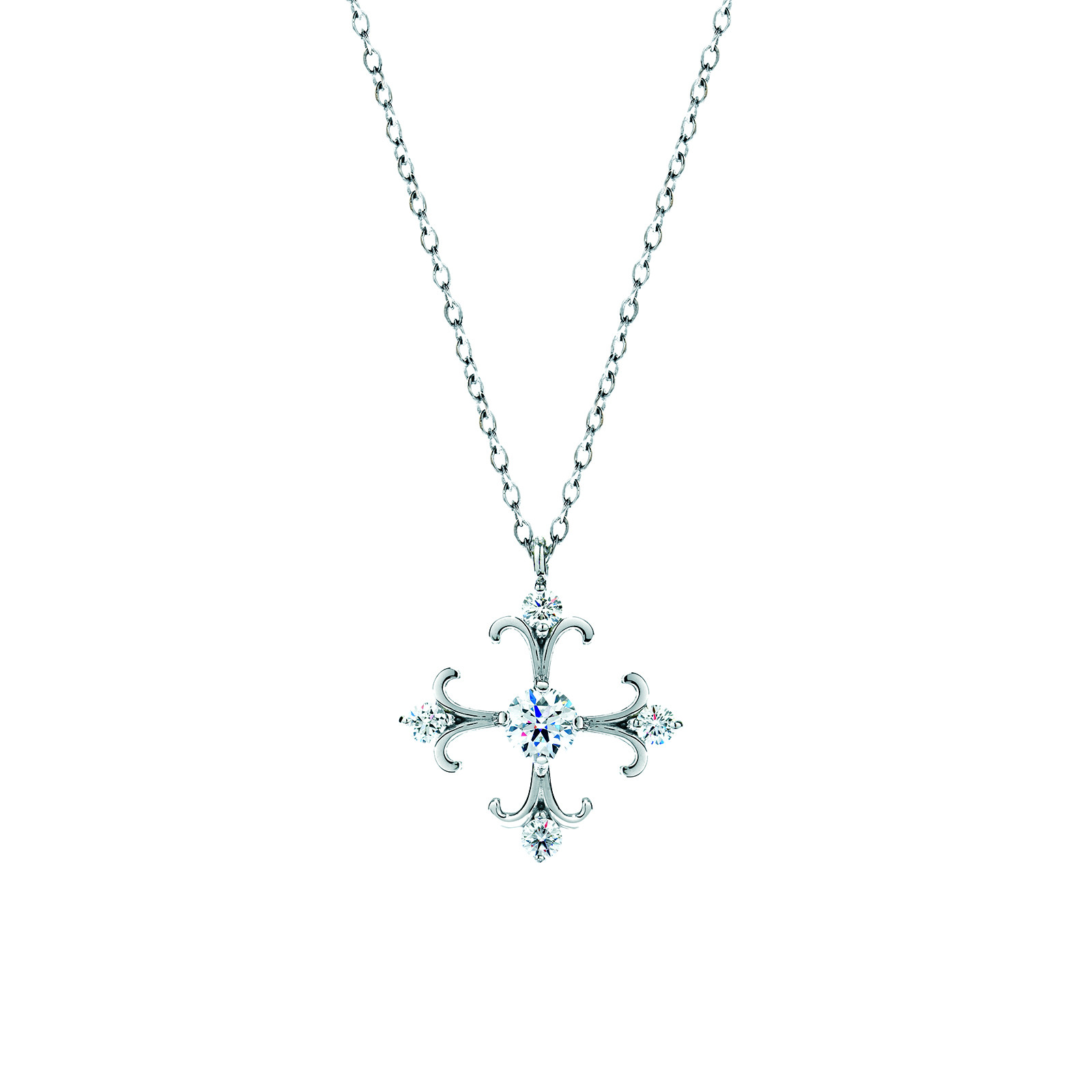 New Hearts On Fire® 0.36 CTW Diamond Fairy Tale Cross Necklace