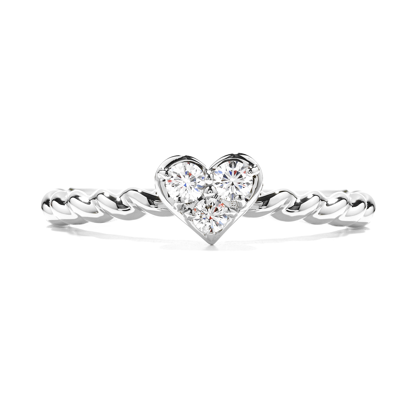 New Hearts On Fire® 0.13 CTW Diamond Bar Heart Ring