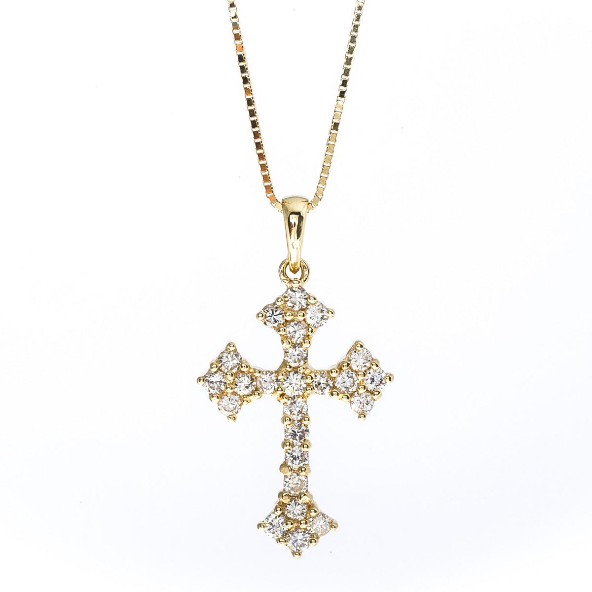 Vintage 0.73 CTW Diamond Cross Pendant