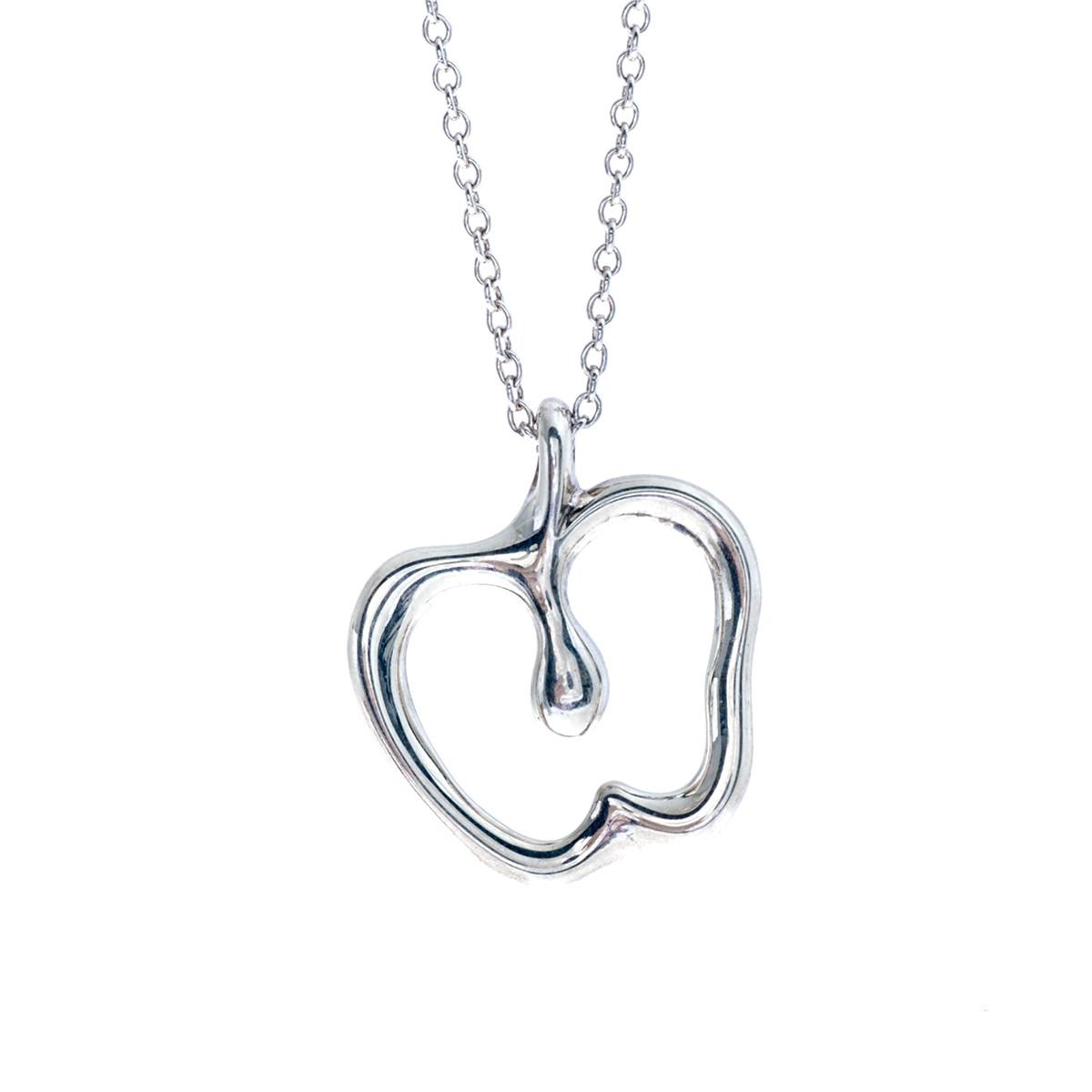 apple necklace. vintage tiffany \u0026 co. elsa peretti apple necklace