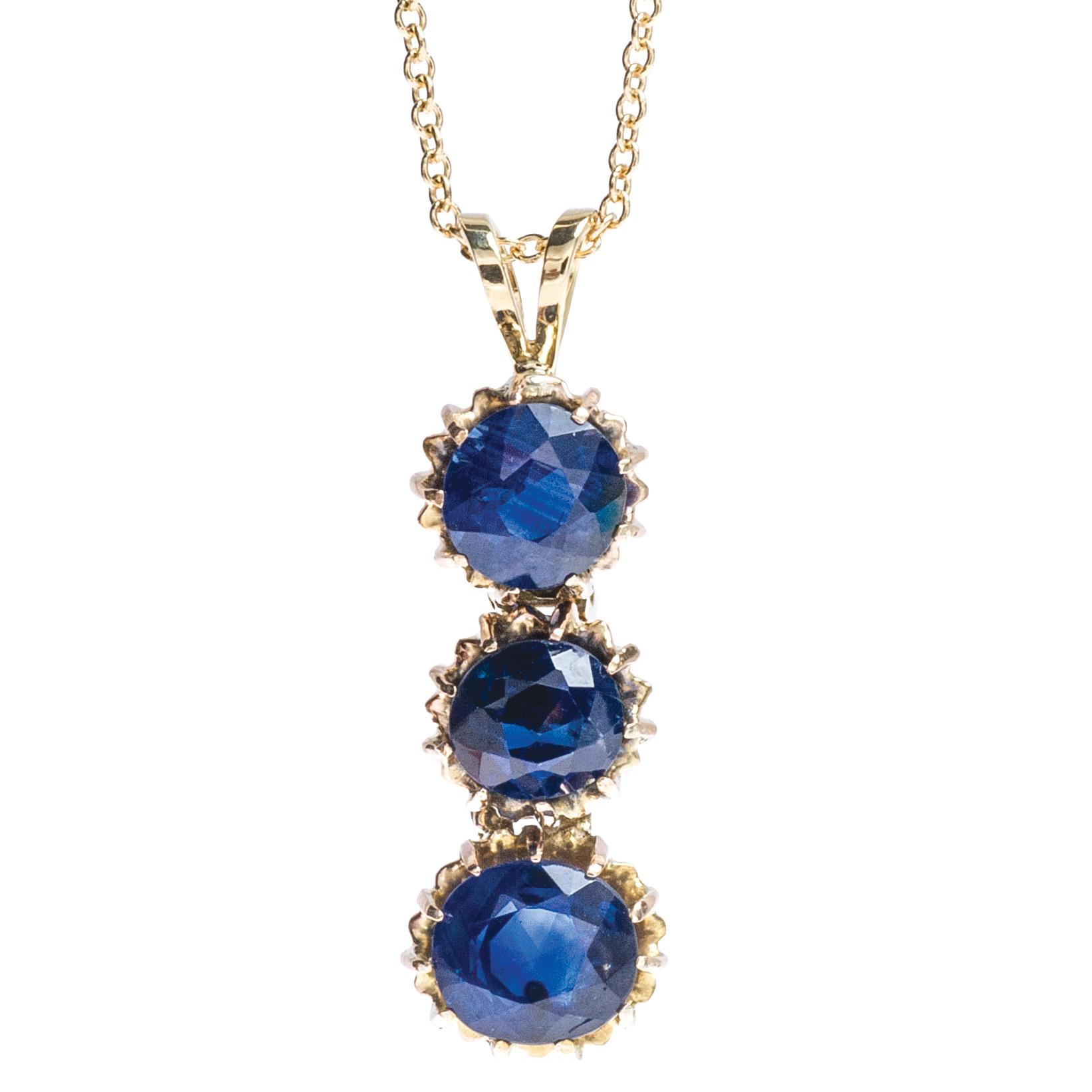 Victorian 2.75 CTW Sapphire Pendant