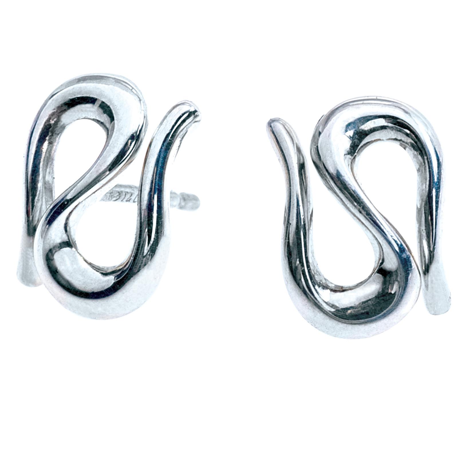 Vintage Tiffany & Co. Elsa Peretti Open Wave Earrings