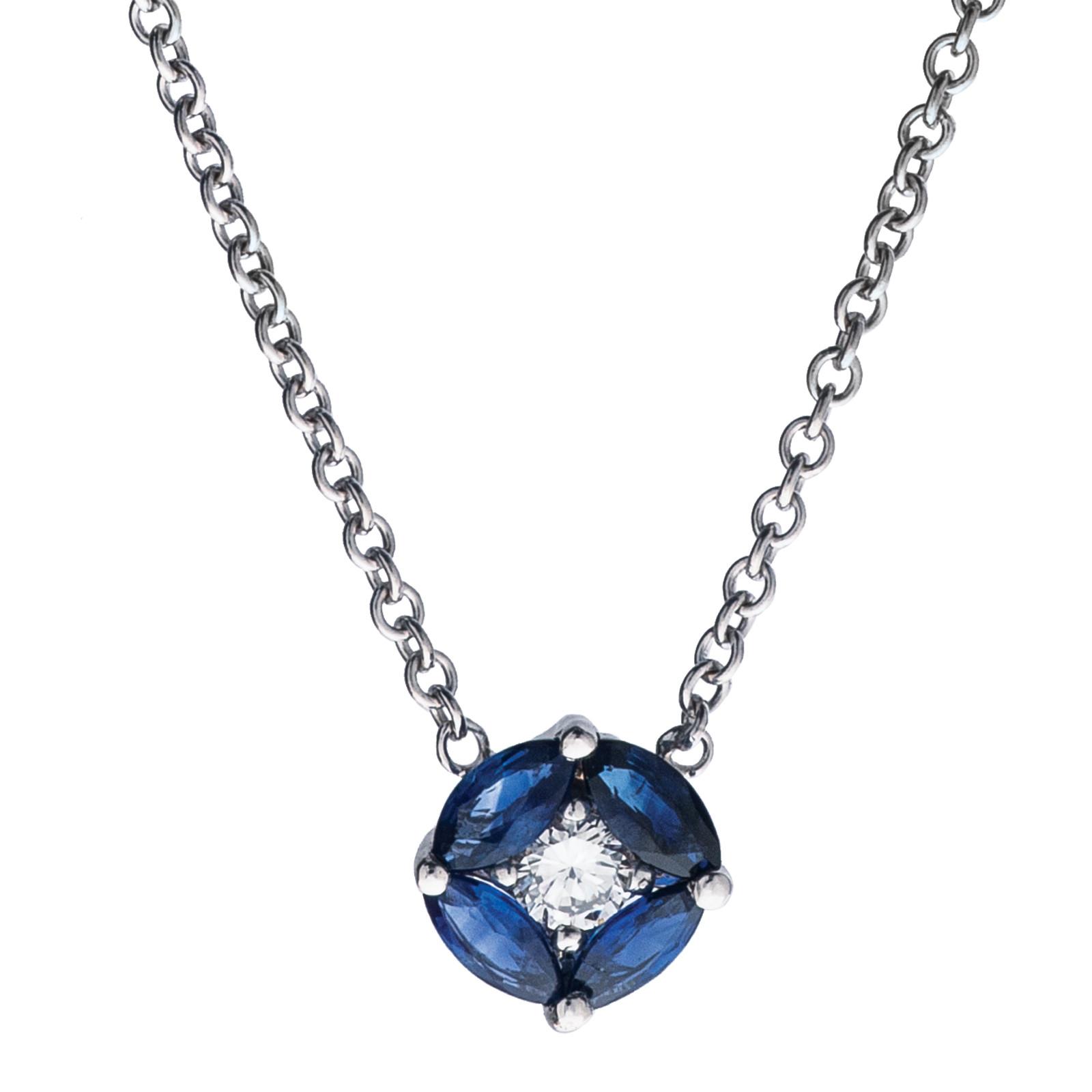 Vintage 0.55 CTW Sapphire & Diamond Pendant