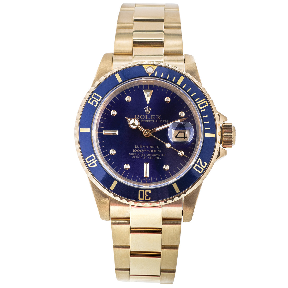 Preowned 18K Gold Rolex Submariner