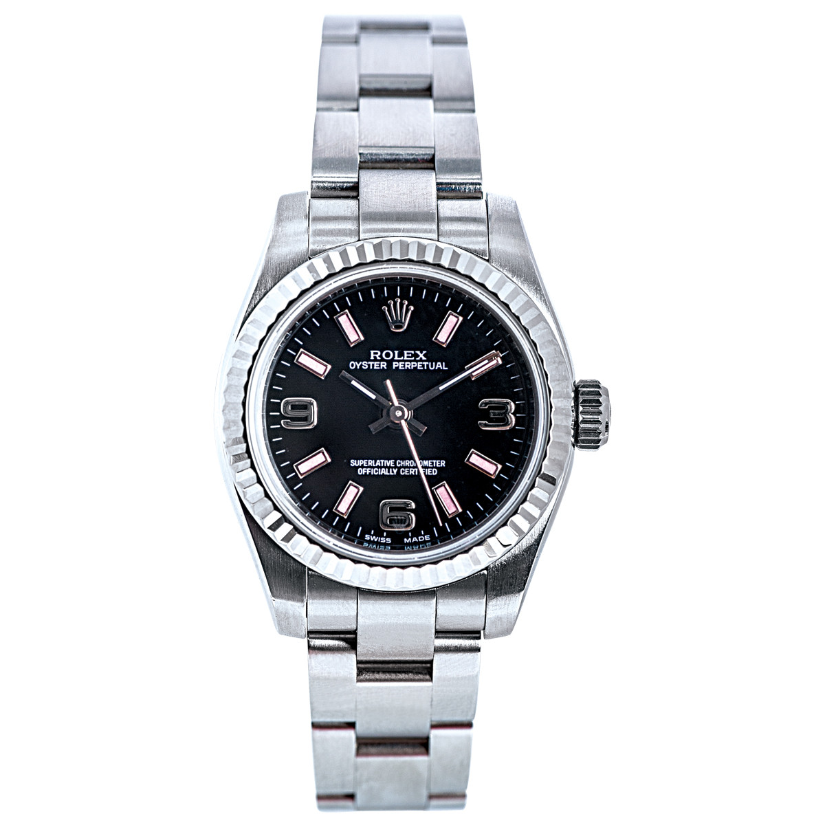 Preowned Women's Rolex Oyster Perpetual with Black Dial