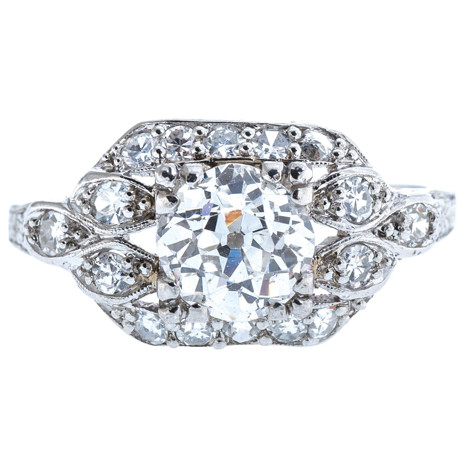Antique Edwardian 1.54 CTW Diamond Engagement Ring