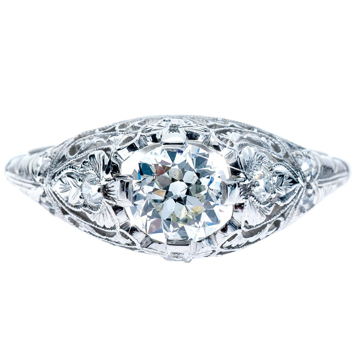 Vintage 0.79 CTW Diamond Engagement Ring