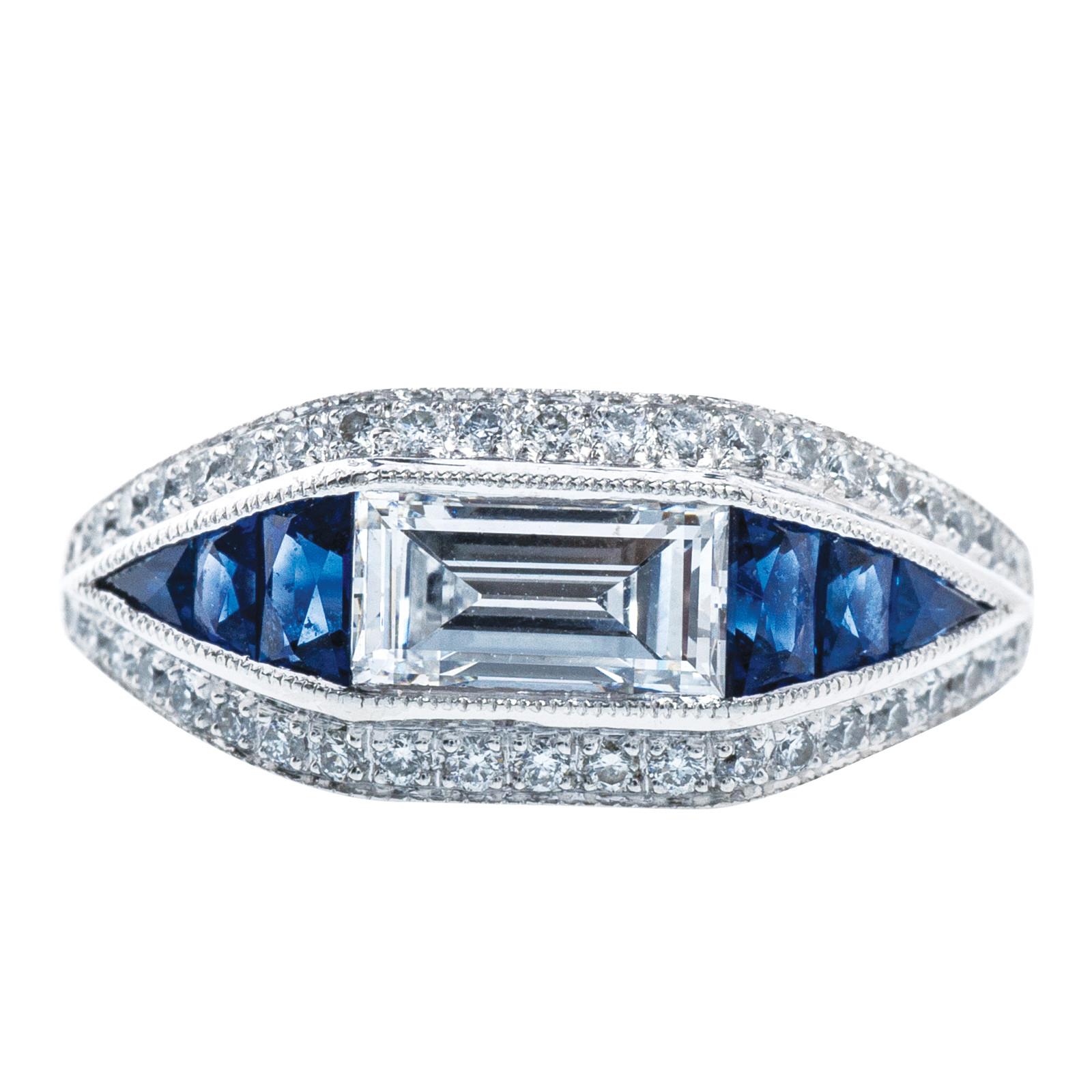 Vintage 1.96 CTW Sapphire & Diamond Ring