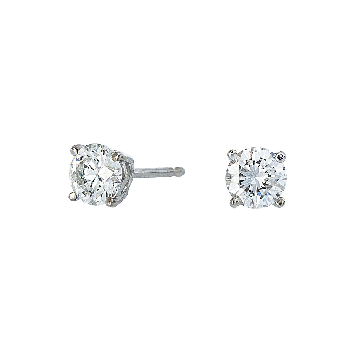 Vintage 0.70 CTW Diamond Stud Earrings