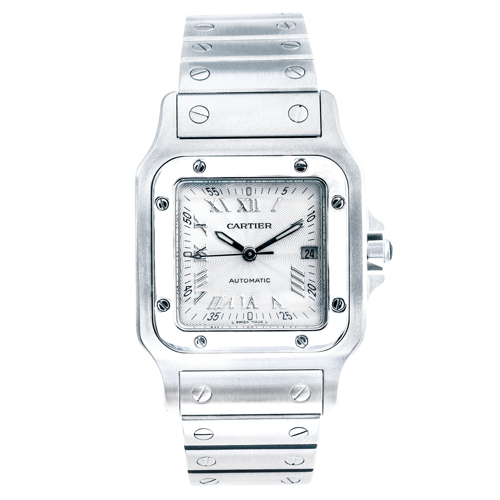 Pre-Owned Cartier Santos with Roman Dial