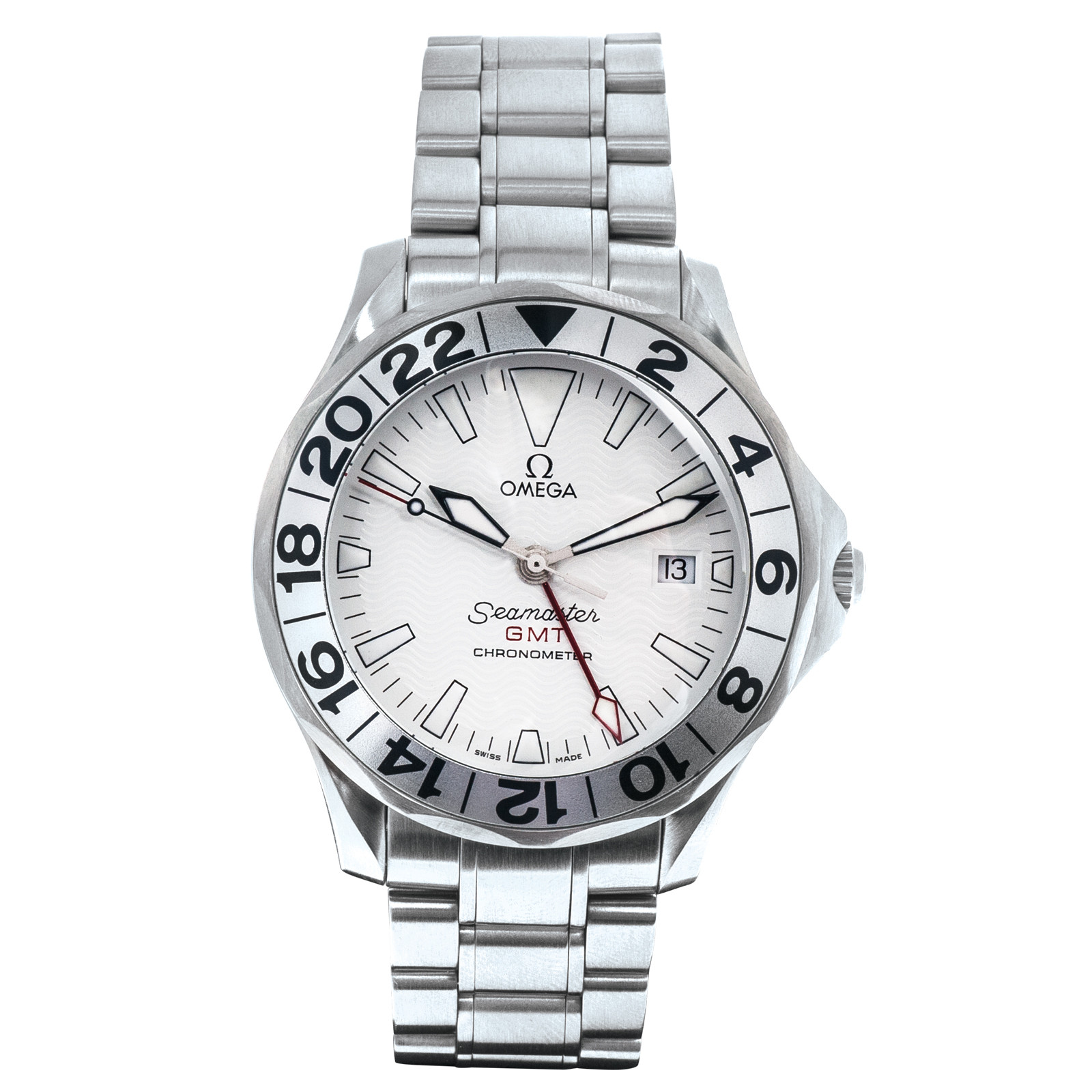 Pre-Owned Omega Seamaster GMT Great White