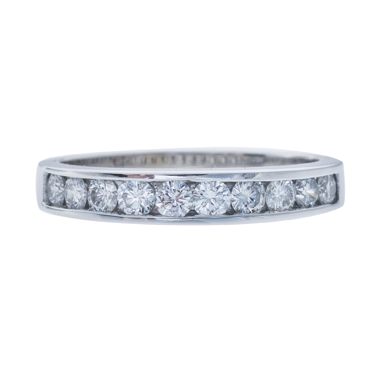 Vintage 14k White Gold 0.50 CTW Diamond Band