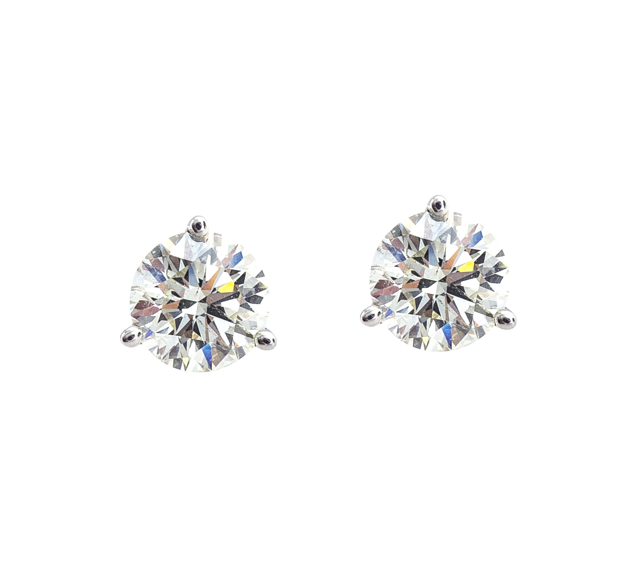 New Yehuda 2.12 CTW Clarity Enhanced Diamond Stud Earrings