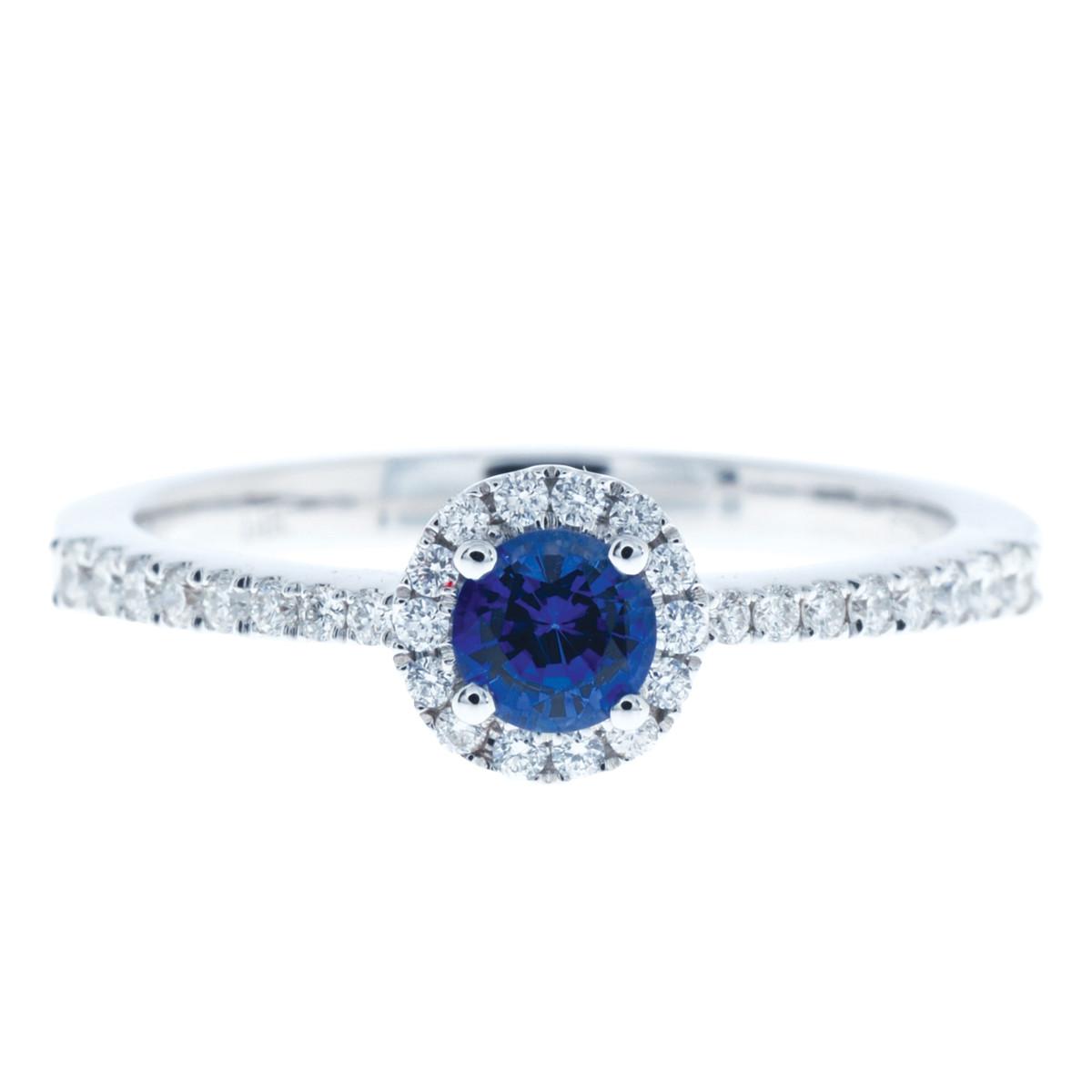 New 0.33 CTW Sapphire & Diamond Ring