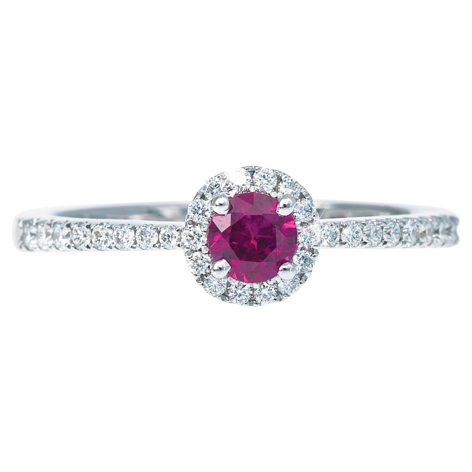 0.52 CTW Ruby & Diamond Ring