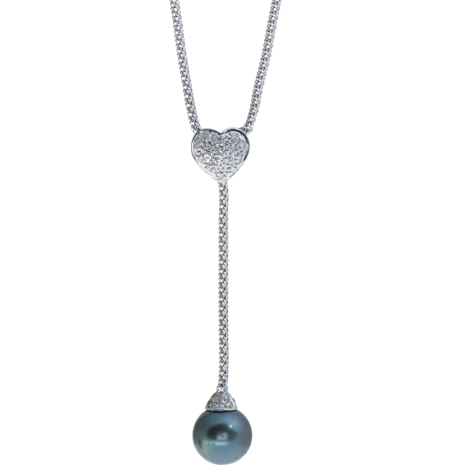 Vintage Tahitian Pearl & Diamond Necklace