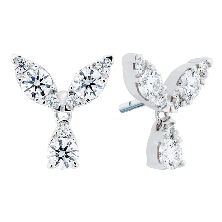 Hearts On Fire® Aerial Petal Stud Earrings