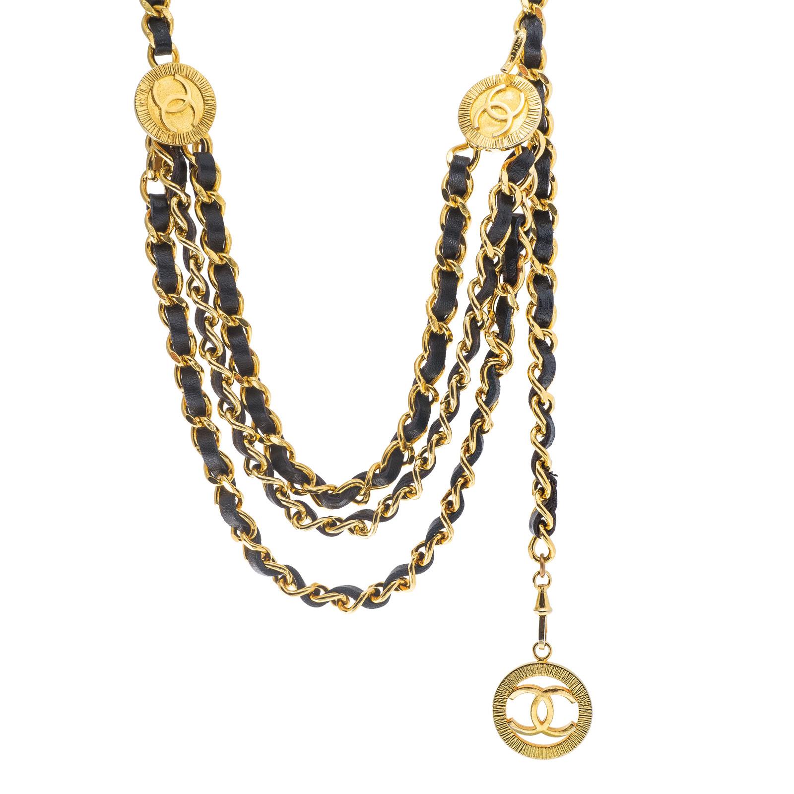 Vintage Chanel Leather Belt/Necklace