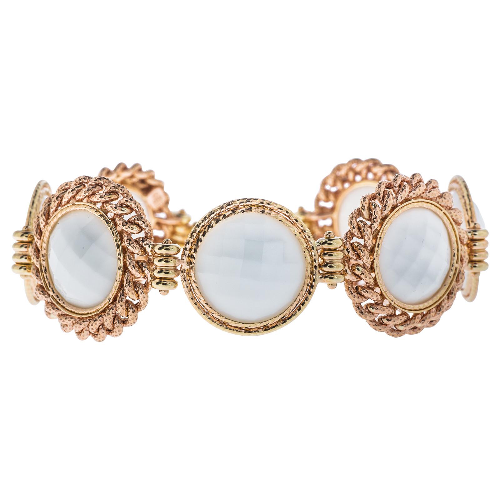 Vintage White Agate Bracelet
