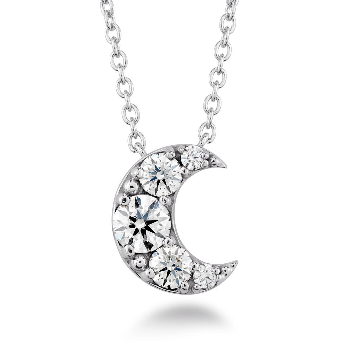 New Hearts On Fire® 0.40 CTW Diamond Fulfillment Half Moon Necklace