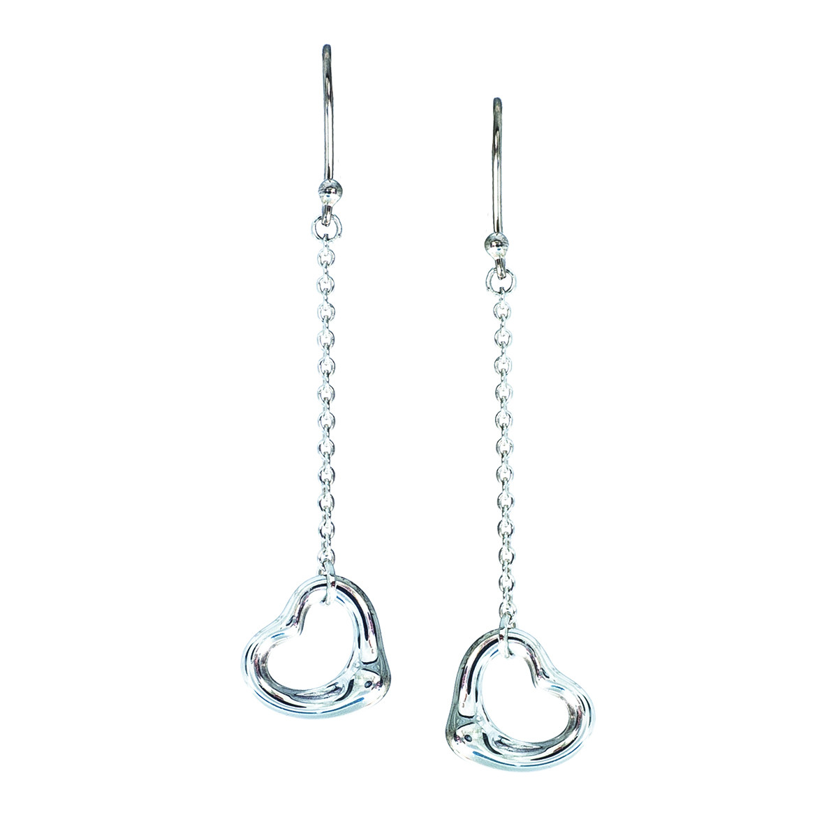 Vintage Tiffany & Co. Elsa Peretti Open Heart Dangle Earrings