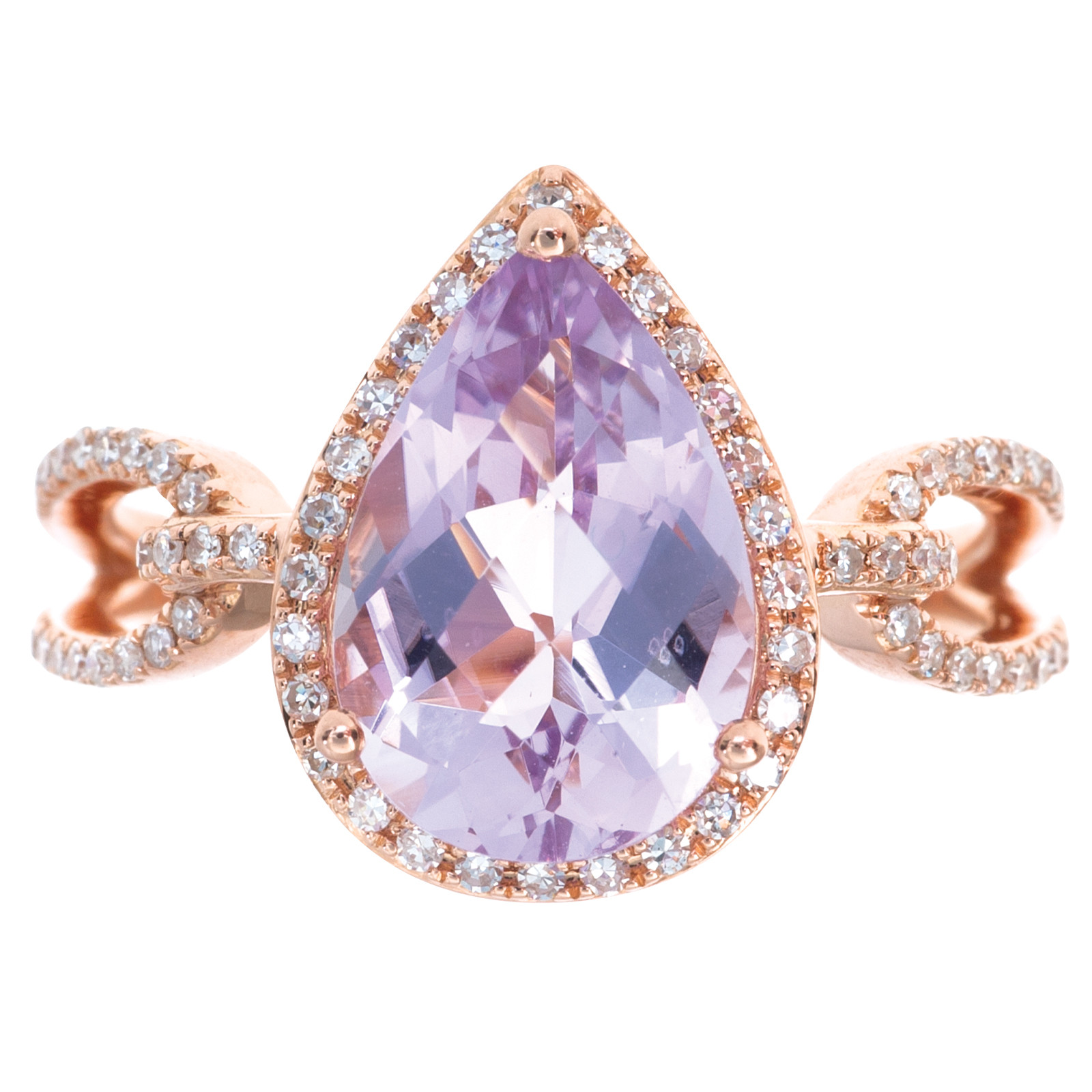 Vintage 3.70 CTW Kunzite & Diamond Ring