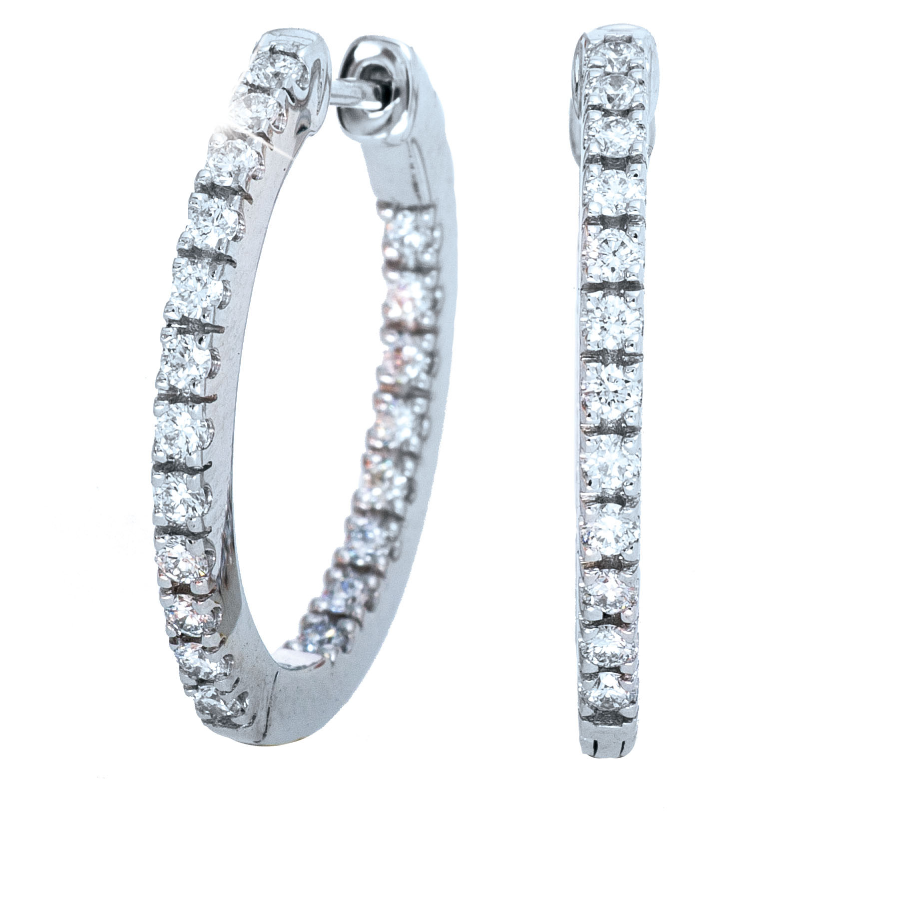 New Mémoire® 0.50 CTW Diamond Hoop Earrings