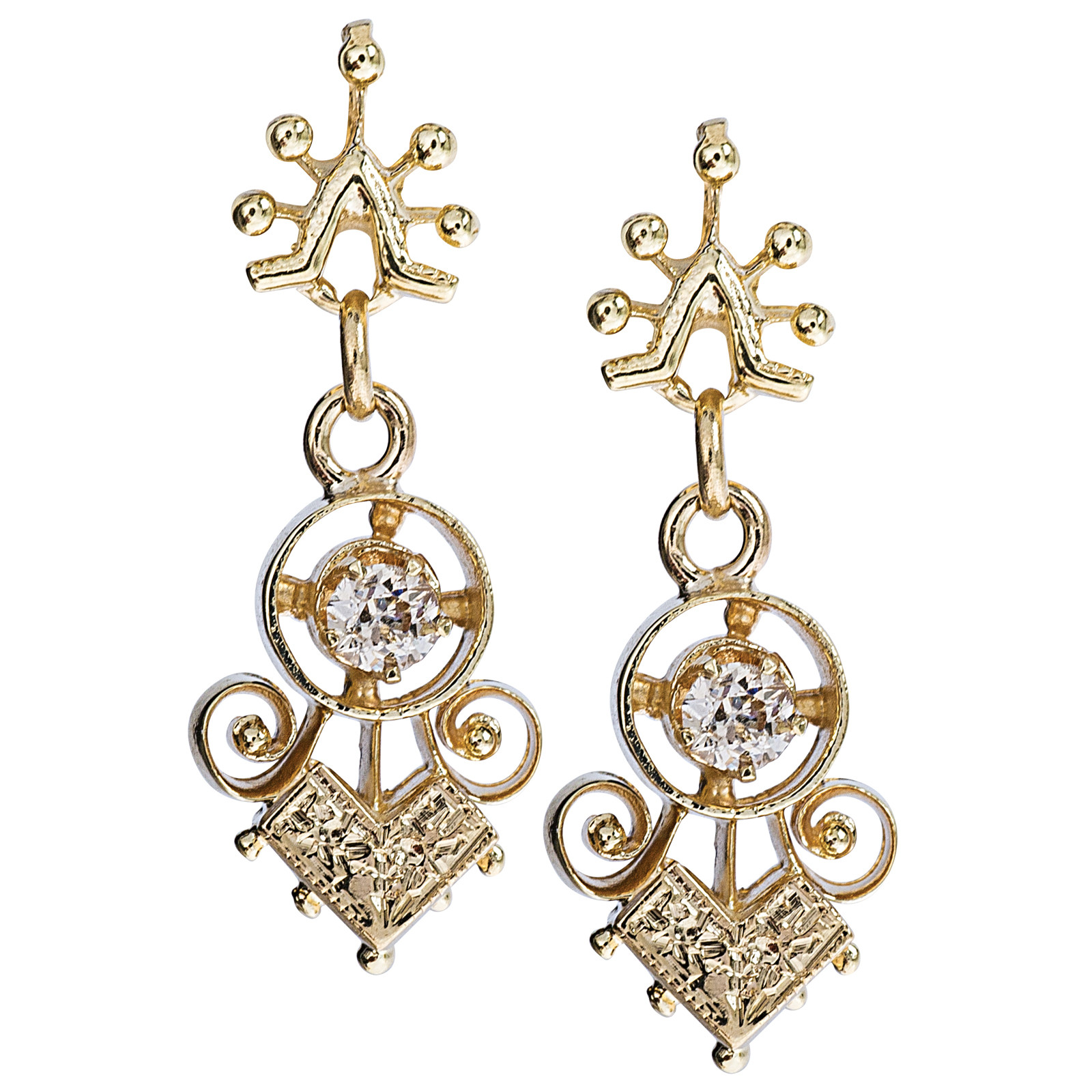 Antique Victorian 0.18 CTW Diamond Earrings