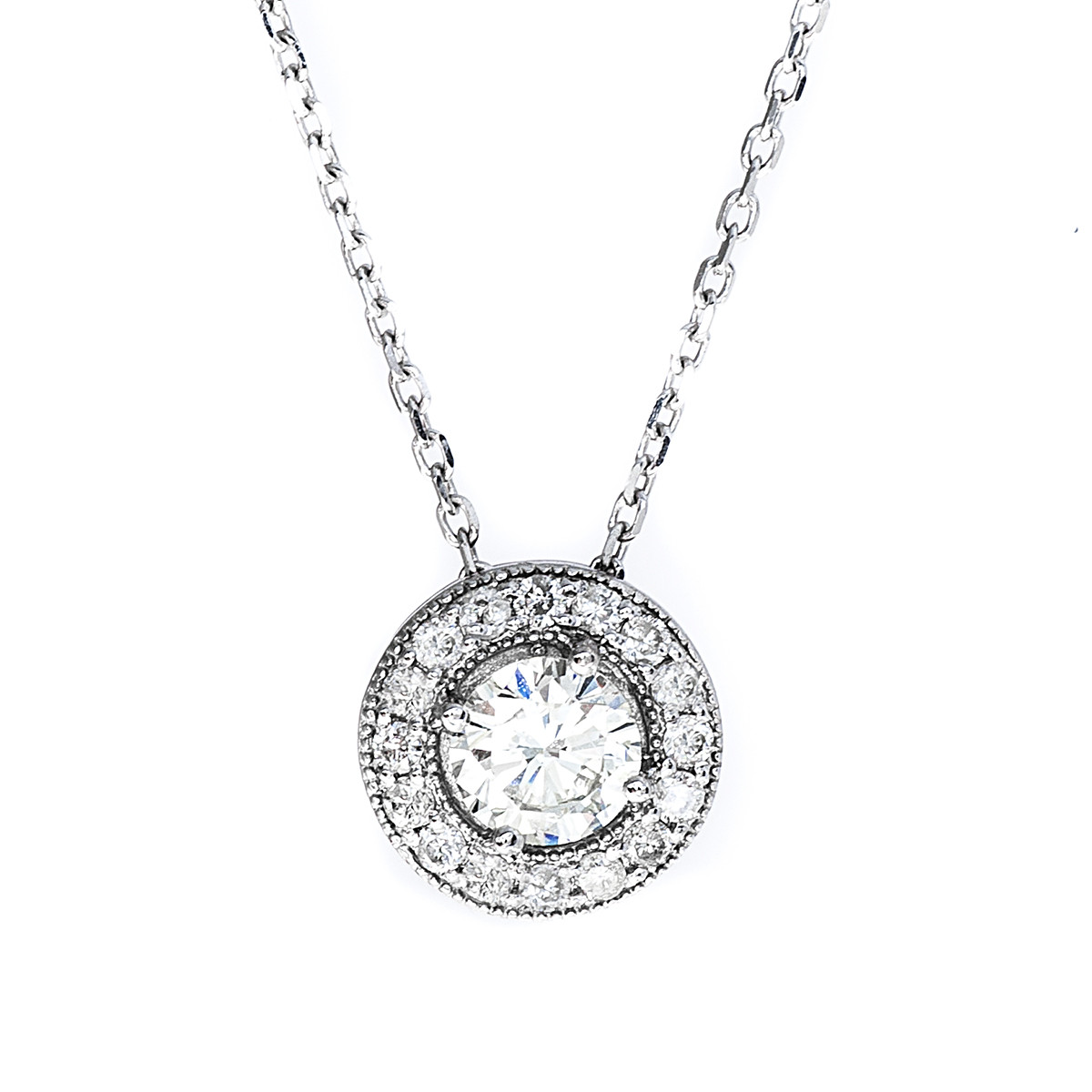 Vintage 0.62 CTW Diamond Pendant Necklace