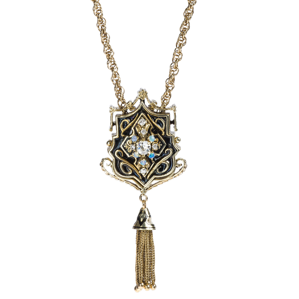 Victorian 0.45 CTW Diamond Taille D'epargné Necklace