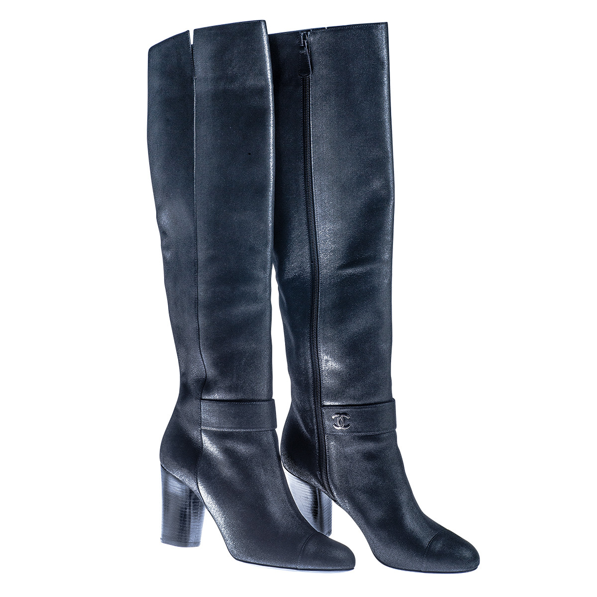 Vintage Chanel Black Boots