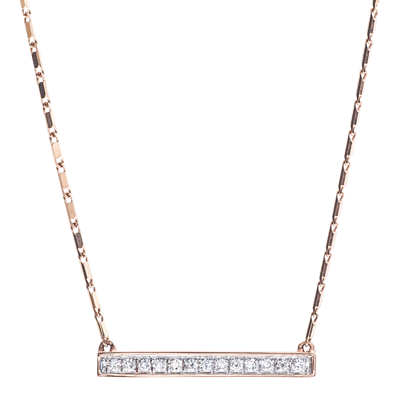 New Oro Alexander Bar Diamond Pendant