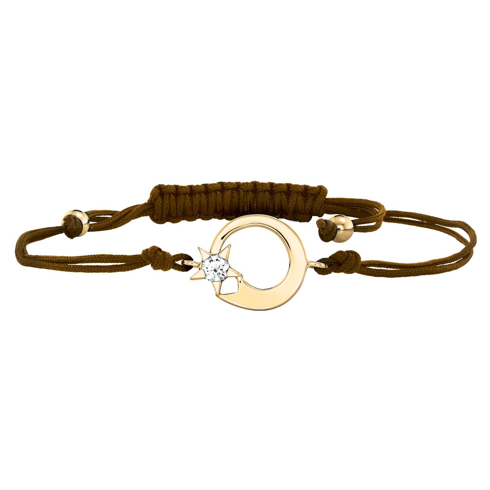 Hearts On Fire® Illa Brown Cord Bracelet