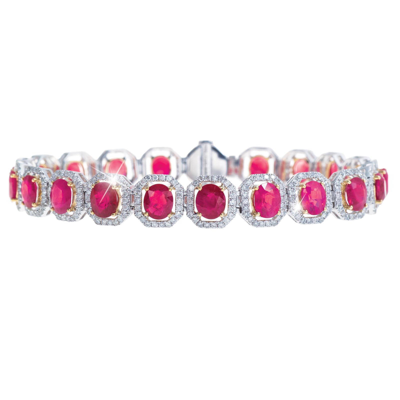 18.13 CTW Ruby & Diamond Bracelet