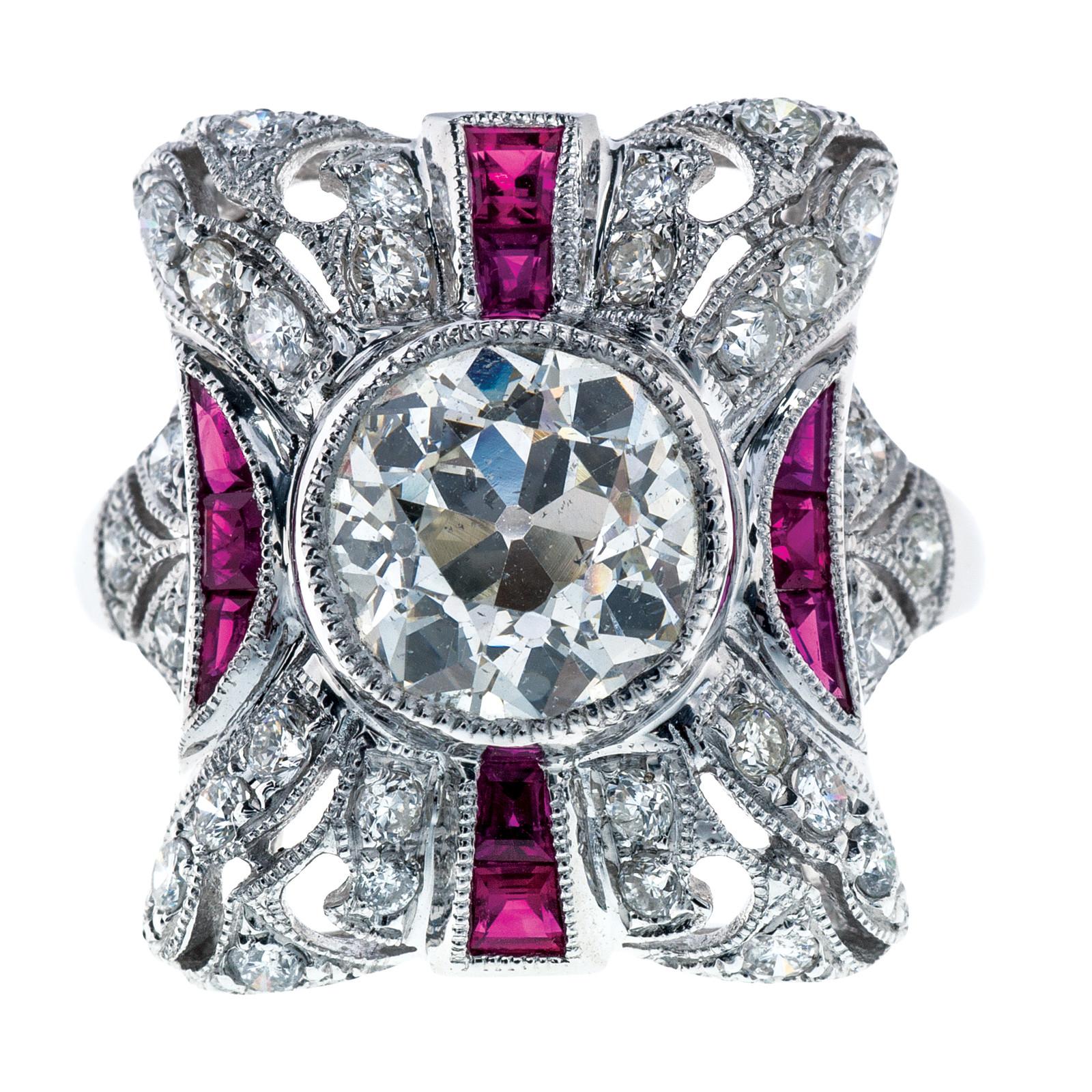 3.20 CTW Diamond & Ruby Ring