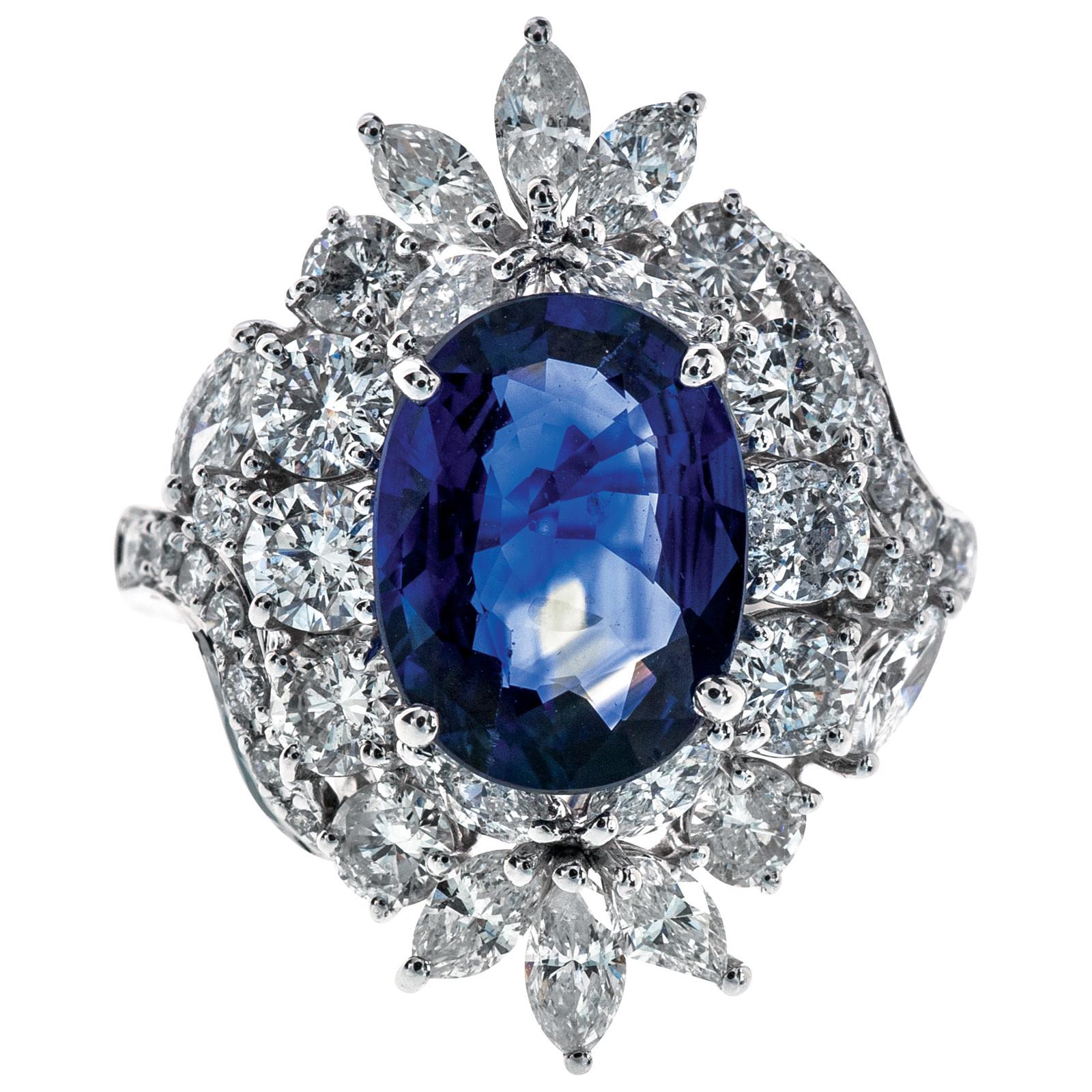 5.95 CTW Sapphire & Diamond Ring