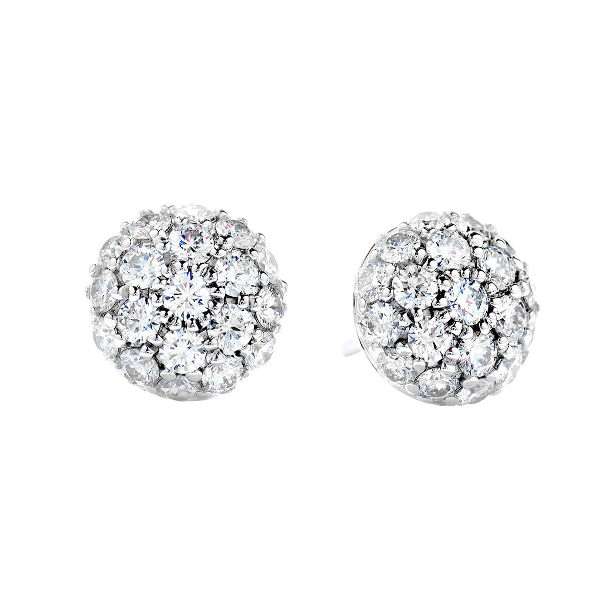 New Hearts On Fire® 1.90 CTW Diamond Silk Pave Earrings