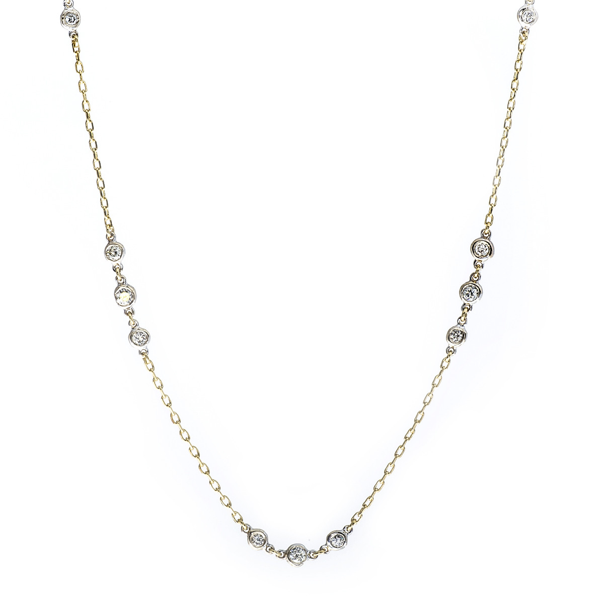 Vintage 0.85 CTW 9-Station Diamond Necklace