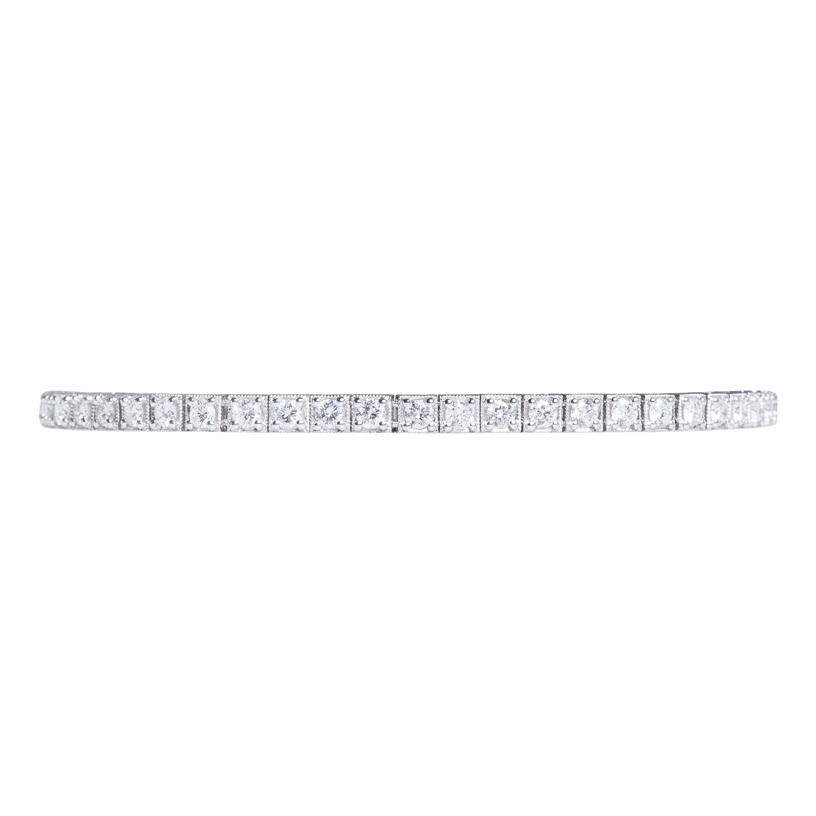 New 3.02 CTW Diamond Tennis Bracelet