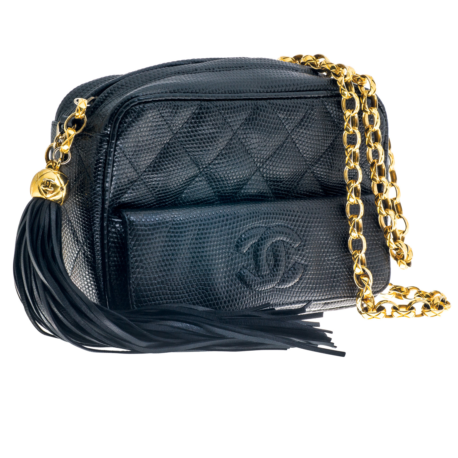 Vintage Chanel Lizard Camera Bag